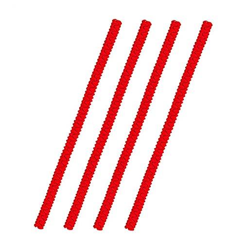 iuNWjvDU Horno de Carro Escudos Horno de Carro Borde de Silicona Anti-escaldado Protector a Prueba de Calor Horno Forma de Rosca en Rack Guardia 4PCS Red Easy Tools cocción rápida Cocine