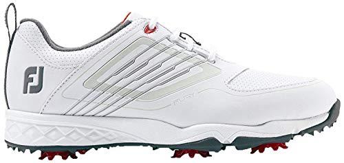 FootJoy Junior, Zapatillas de Golf para Niños, Blanco (Blanco/Plata 45027m), 35 EU