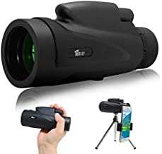 Monocular Telescope 12X50 High Power&HD Monocular with Durable and Clear FMC BAK4 Prism Dual Focus Waterproof Monocular with Phone Adapter Tripod for Bird Watching, Camping, Hiking