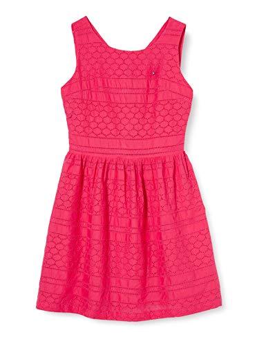 Tommy Hilfiger Broderie Anglaise Dress Slvls Vestido, Rojo (Blush Red Xif), 3-4 años (Talla del Fabricante: 4) para Niñas
