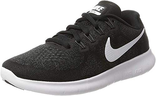 Nike Free RN 2017, Scarpe Running Donna, Nero (Black/White/Dark Grey/Anthracite), 36.5 EU