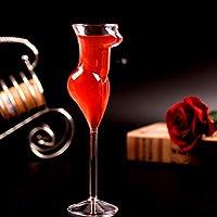 ワイングラス GBLHM ワイングラスゴブレットセクシーな女性形のデザインワインカクテルシャンパンビールホームバーパーティーのために飲む 201-300ml 透明