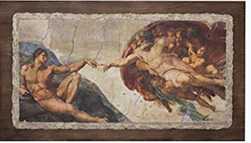 """Ars Martos - """"Creazione' Michelangelo. Riproduzione d'Arte in Affesco su Intonaco. Disponibile in varie misure e finiture."""