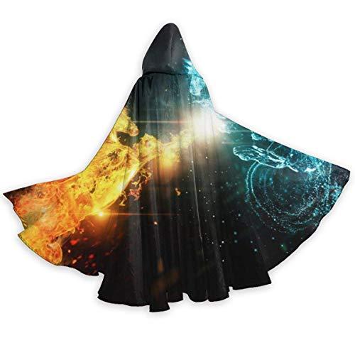 Inner-shop Disfraces de Halloween Capa de túnica con Capucha, Divertido Viaje en Globo aerostático para Disfraz de Cosplay de Mascarada, Unisex 59 Pulgadas