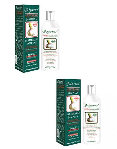 2X 450 ml (900ml) Zigavus Extra Plus Knoblauch Shampoo Gegen Haarausfall Extra Plus Knoblauch Shampoo gen Haarausfall