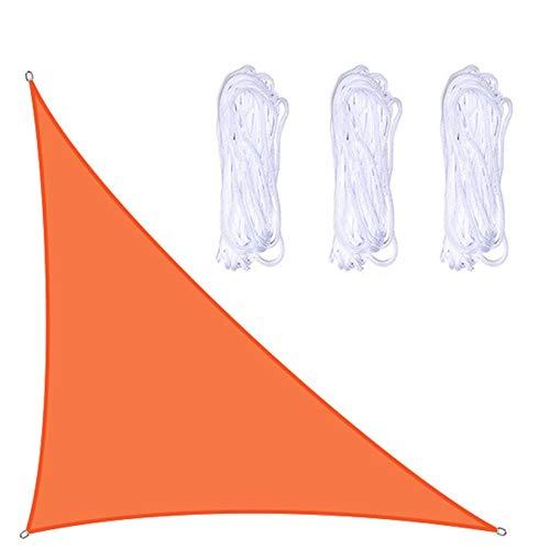 Toldos Exterior Triángulo Naranja Patio Shade Spade Impermeable con Anillos D De Aluminio, 95% Anti-UV, Premium Durable Y Resistente A La Lágrima, Tamaños Múltiples(Size:3X4X5m/10X13X16ft)
