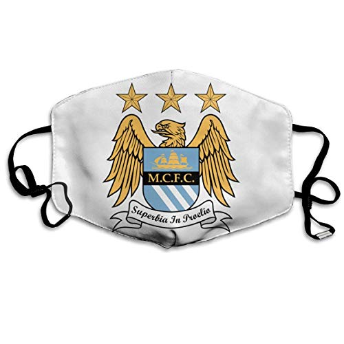 Unisex Multi Usage Face Cover with Manchester City Dust Mouth Cover with Adjustable Earloops