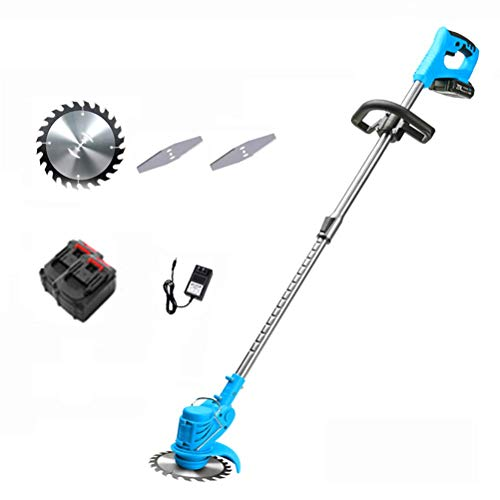 Best Bargain ZXYSR Cordless Grass Trimmer, Adjustable Handle Powerful Brushless Motor with Battery a...
