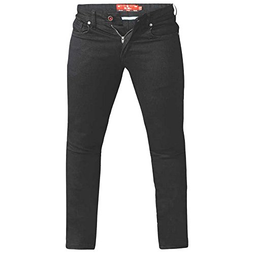 Duke Mens Claude King Size Tapered Fit Stretch Jeans (46S) (Black)