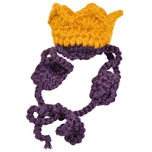 ペット用 王冠の被り物 犬 猫 ペット用品 コスプレ 仮装 にゃんこ わんこ ハロウィン ぬいぐるみ あみぐるみ 2size (M)