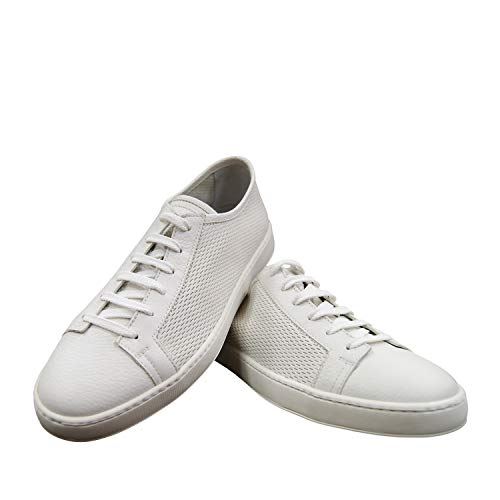 Santoni Sneakers Weiß Elchleder MCBN20673BA6CCNAI48 (42 EU, weiß)