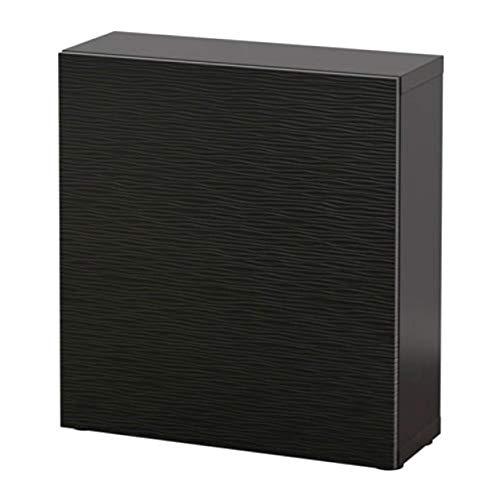 Ikea Besta 990.466.26 - Estantería con Puerta, Color Negro y marrón