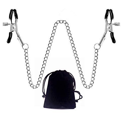 Körperkette mit verstellbarem Clip, Frauen Halskette Unterhaltungskette Klemme Kleidung Zubehör mit Aufbewahrungstasche