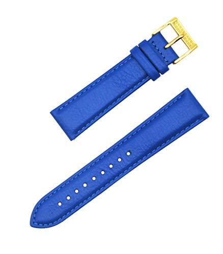 Angel Sky Correa compatible con iStrap de cuero genuino marca de reloj para mujer (varios colores a elegir), Hebilla con detalles de color azul y dorado., 20mm