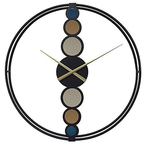 23.6 Pulgadas Reloj de Pared de Hierro Minimalista de Lujo Ligero Reloj de decoración de la Sala de Estar en el hogar Sin Escala Mudo sin Tic-TAC - para Sala de Estar/Hotel/Pasillo