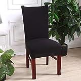 NIKIMI Fundas para sillas de impresión Floral Decoración para el hogar Silla de Comedor elástica Funda de Spandex Funda de Asiento de Oficina para Comedor