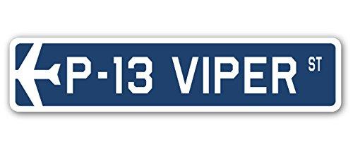 SignMission P-13 Viper Plaque de Rue Militaire de l'armée de l'air Aircraft | Intérieur/extérieur | 45,7 cm de Large
