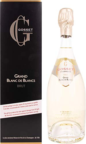 Gosset Grand Blanc de Blancs Brut Champagner mit Geschenkverpackung (1 x 0.75 l)