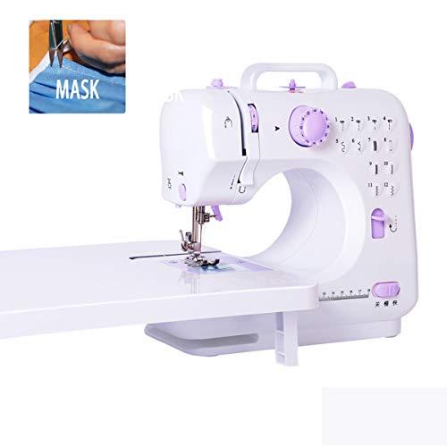 Máquina de coser portátil, que incluye varios accesorios para máquinas de coser, máquina de coser multifunción controlada por microcomputadora, 12 tipos de rastros de hilo, enseñanza por video