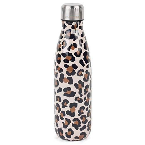 Cambridge CM06513 Watercolour Leopard Thermoflasche, 500 ml, Edelstahl
