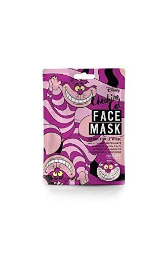 Mad Beauty Disney Gesichtsmaske Grinsekatze von Alice im Wunderland - feuchtigkeitsspendende Tuchmaske für gepflegte Haut und einen schönen Teint