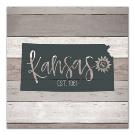 Kansas Shiplap Canvas Art Print   Kirklands