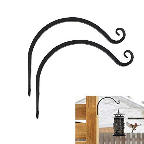 Hängekorb-Klammern, strapazierfähig, 20,3 cm, handgeschmiedetes Metall, für den Außenbereich, Garten, Wandhaken für Laternen, Schmiedeeisen, Halterung für Pflanzgefäß, Blumen, Zaun