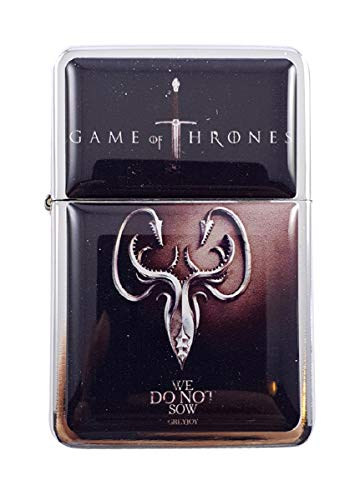 Feuerzeug Star House Greyjoy Game of Thrones nachfüllbar, Winddicht, Öl
