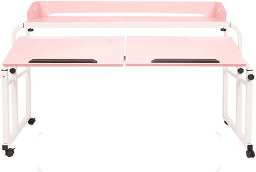 Tableau LHA Bureau d'ordinateur relevable - Facile à Ranger et à Ranger (Couleur   rose)