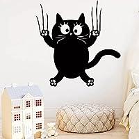 子供部屋の保育室の装飾に適したロマンチックな猫の粘着ビニールの壁紙家族のパーティーの装飾の壁紙
