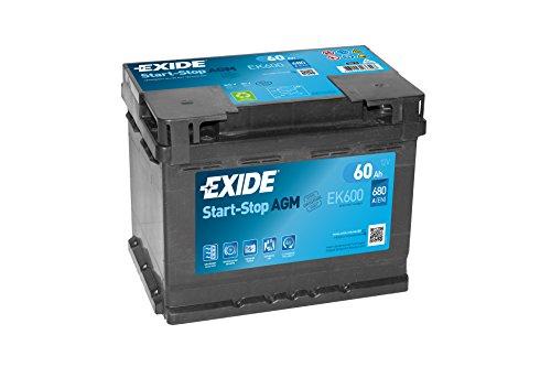 Autobatterie 12V 60AH AGM Exide Start-Stop oder 1510320