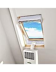 HOOMEE Centraal Pivot Dakraam Afdichting Set voor Mobiele Airconditioning en Wasdrogers - Werkt met Elke Mobiele Airconditioning - voor Raamomtrek van 311 tot en met 390cm (190cm x2)