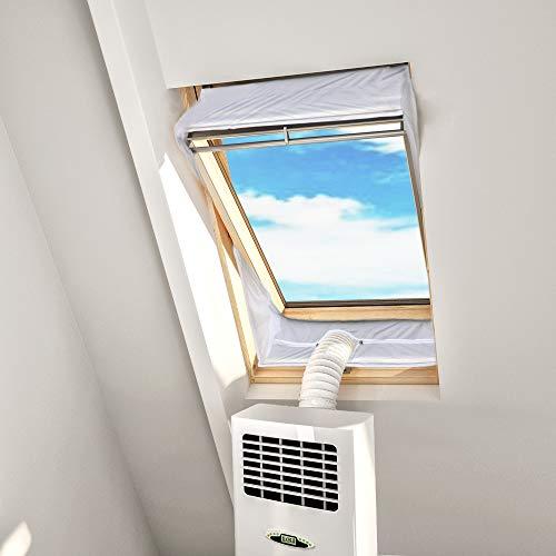 HOOMEE Kit Condizionatore Finestra - Installazione di Condizionatori Portatili per Finestre a Bilico – per Tutti i Climatizzatori Mobili – per Finestre con Perimetro da 301 a 390 cm