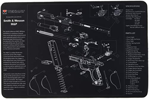 "TekMat for use with Smith & Wesson M&P Black, 11""x17"""