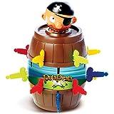 Uma espadinha aqui... outra ali...De repente, o pirata pula fora do barril e ninguém sabe quando ele vai pular! Nesta nova versão, é possível jogar também na internet, em realidade aumentada.