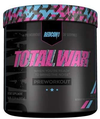 Redcon1 Total War - Pre Workout, Boost Energy, Increase Endurance and Focus, Beta-Alanine, 350mg Caffeine, Citrulline Malate, Nitric Oxide Booster - Keto Friendly (Vice City)