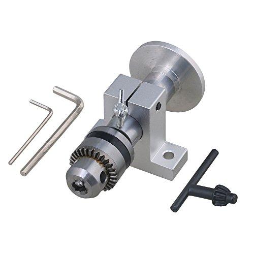 130x60x51.5mm Silber Stahl Aluminium Mikrobohrmaschine Drehmaschine Zentrum Reitstock Fingerhut Perlen Maschine Holzbearbeitung DIY