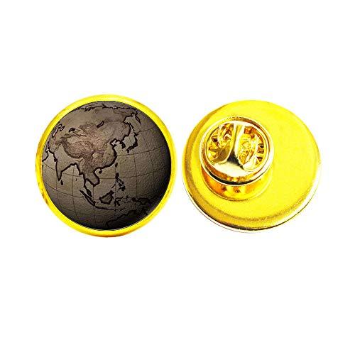 Broche de mapa del mundo, broche de la tierra, broche de mapa, broche de globo, joyería de mapas, broche del mundo globo, Wanderlust, broche de viaje # 341