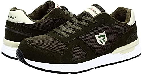 HOUJIA Zapatos de Seguridad con Punta de Acero,Zapatillas de Trabajo Anti-aplastantes Transpirables y Ligeras para Hombre,Zapatos de Seguridad Zapatos de construcción