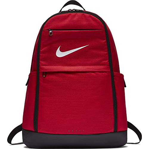 Nike Brasilia Training Backpack, Extra Large Backpack Built for Secure Storage with a Durable Design, University Red/Black/White