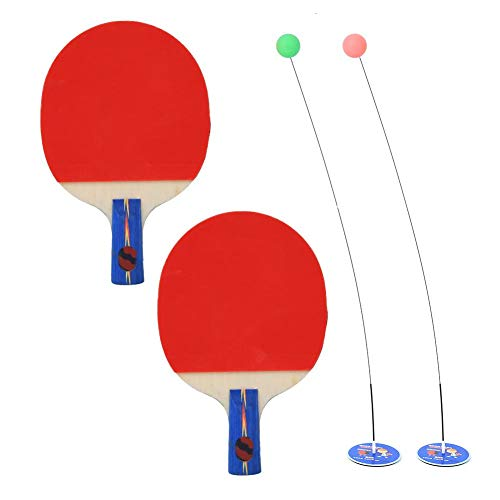 For Sale! Table Tennis Trainer Set with Elastic Soft Shaft, Table Tennis Leisure Decompression Sport...