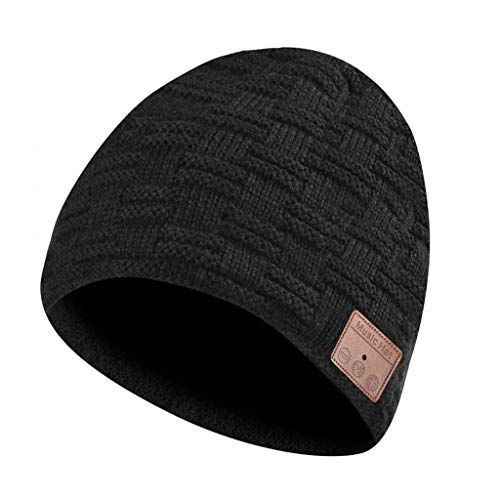 SHYPT Bluetooth-Laufmütze, Eastpin Bluetooth-Mütze, Bluetooth 5.0 HD-Stereo-Mütze-Kopfhörer, Wintermütze, elektronische Geschenke
