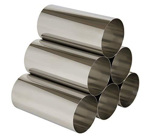 SBSdesign Zeitschriftenregal Zeitungsregal Edelstahl Metall Rohre Freistehend Erweiterbar 30 x 21 x 30 cm Made In Germany
