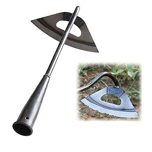 Kagodri Roestvrij staal holle schoffel, wieden hark voor het planten van groentetuin boerderij tuinieren gereedschap