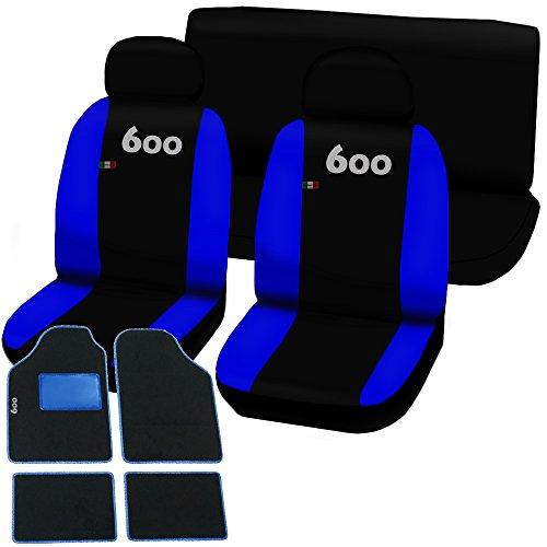 Lupex Shop 600-TMB_NBr Coprisedili e Tappetini, Nero/Blu Royal