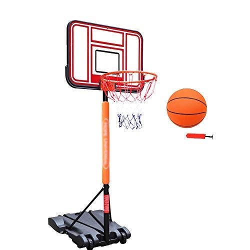 ERRU Basketballkorb In-Ground Basketball Goal - Höhenverstellbarer Basketballkorb mit Rollen für Kleinkinder, Tragbar