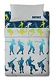 Halantex juego de sabanas fortnite cama de 105-3 piezas (180x270 + 105x200/28 + 45x125)