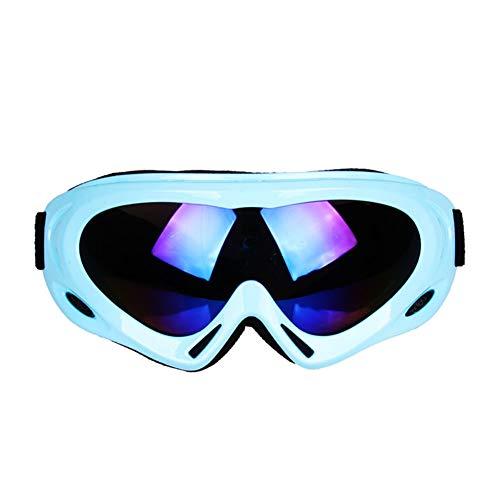 Getrichar Gafas de esquí Gafas de una Sola Capa for Adultos niños de la Motocicleta a Prueba de Viento de Arena Gafas de Deportes al Aire Libre a Prueba de Golpes (Color : Sky Blue, Size : 18×8cm)