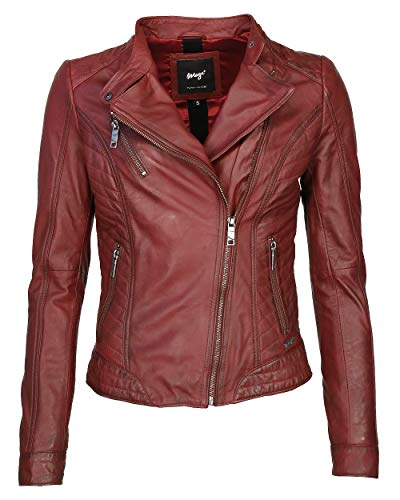 Maze Damen Lederjacke Mit Stehkragen Sally Red 3XL