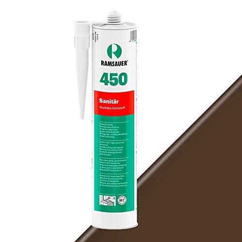 Ramsauer 450 Sanitär 1K Silikon Dichtstoff 310ml Kartusche (Braun)